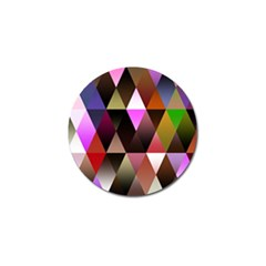Triangles Abstract Triangle Background Pattern Golf Ball Marker (10 Pack)