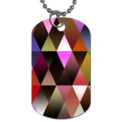 Triangles Abstract Triangle Background Pattern Dog Tag (two Sides)