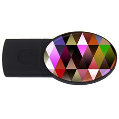 Triangles Abstract Triangle Background Pattern USB Flash Drive Oval (1 GB)