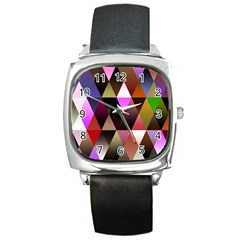 Triangles Abstract Triangle Background Pattern Square Metal Watch