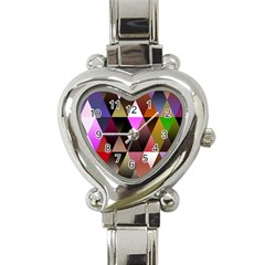 Triangles Abstract Triangle Background Pattern Heart Italian Charm Watch