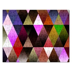 Triangles Abstract Triangle Background Pattern Rectangular Jigsaw Puzzl