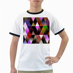 Triangles Abstract Triangle Background Pattern Ringer T Shirts