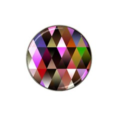 Triangles Abstract Triangle Background Pattern Hat Clip Ball Marker