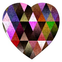 Triangles Abstract Triangle Background Pattern Jigsaw Puzzle (heart)
