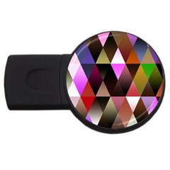 Triangles Abstract Triangle Background Pattern USB Flash Drive Round (4 GB)