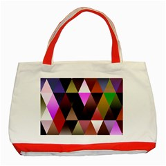 Triangles Abstract Triangle Background Pattern Classic Tote Bag (red)