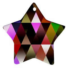 Triangles Abstract Triangle Background Pattern Star Ornament (two Sides)