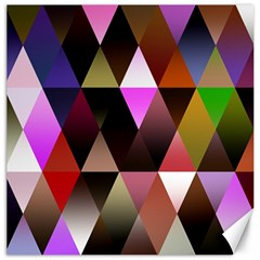 Triangles Abstract Triangle Background Pattern Canvas 16  X 16