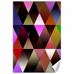 Triangles Abstract Triangle Background Pattern Canvas 24  x 36