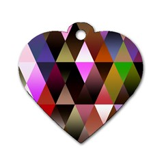 Triangles Abstract Triangle Background Pattern Dog Tag Heart (two Sides)