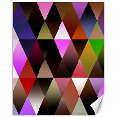 Triangles Abstract Triangle Background Pattern Canvas 11  X 14