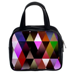 Triangles Abstract Triangle Background Pattern Classic Handbags (2 Sides)