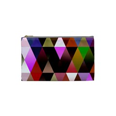 Triangles Abstract Triangle Background Pattern Cosmetic Bag (small)