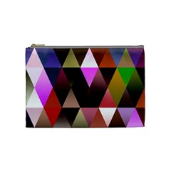 Triangles Abstract Triangle Background Pattern Cosmetic Bag (medium)