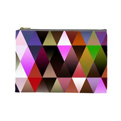 Triangles Abstract Triangle Background Pattern Cosmetic Bag (large)
