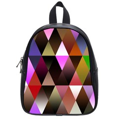 Triangles Abstract Triangle Background Pattern School Bags (small)