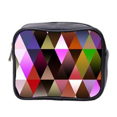 Triangles Abstract Triangle Background Pattern Mini Toiletries Bag 2 Side