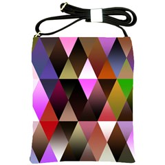 Triangles Abstract Triangle Background Pattern Shoulder Sling Bags