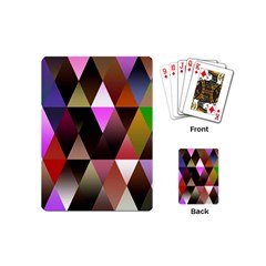 Triangles Abstract Triangle Background Pattern Playing Cards (mini)