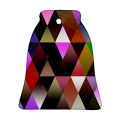 Triangles Abstract Triangle Background Pattern Bell Ornament (Two Sides)