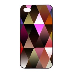 Triangles Abstract Triangle Background Pattern Apple Iphone 4/4s Seamless Case (black)