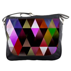 Triangles Abstract Triangle Background Pattern Messenger Bags
