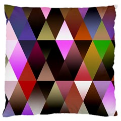 Triangles Abstract Triangle Background Pattern Large Cushion Case (One Side)