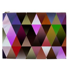Triangles Abstract Triangle Background Pattern Cosmetic Bag (XXL)