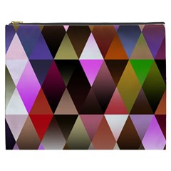 Triangles Abstract Triangle Background Pattern Cosmetic Bag (xxxl)