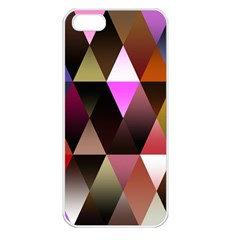 Triangles Abstract Triangle Background Pattern Apple iPhone 5 Seamless Case (White)