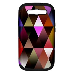 Triangles Abstract Triangle Background Pattern Samsung Galaxy S III Hardshell Case (PC+Silicone)