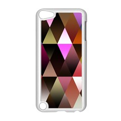 Triangles Abstract Triangle Background Pattern Apple iPod Touch 5 Case (White)