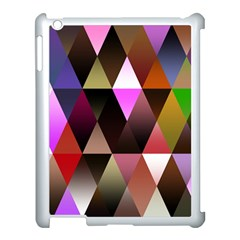 Triangles Abstract Triangle Background Pattern Apple iPad 3/4 Case (White)