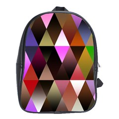 Triangles Abstract Triangle Background Pattern School Bags (XL)