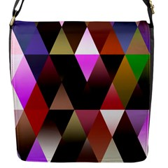 Triangles Abstract Triangle Background Pattern Flap Messenger Bag (S)