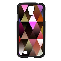 Triangles Abstract Triangle Background Pattern Samsung Galaxy S4 I9500/ I9505 Case (Black)