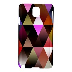 Triangles Abstract Triangle Background Pattern Samsung Galaxy Note 3 N9005 Hardshell Case