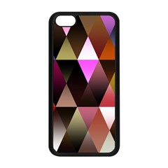 Triangles Abstract Triangle Background Pattern Apple iPhone 5C Seamless Case (Black)