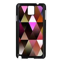 Triangles Abstract Triangle Background Pattern Samsung Galaxy Note 3 N9005 Case (Black)