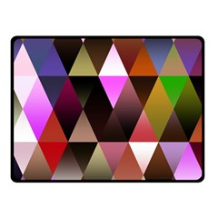 Triangles Abstract Triangle Background Pattern Double Sided Fleece Blanket (Small)