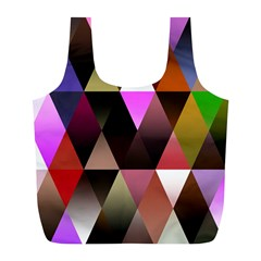 Triangles Abstract Triangle Background Pattern Full Print Recycle Bags (l)