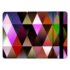 Triangles Abstract Triangle Background Pattern Samsung Galaxy Tab Pro 12.2  Flip Case