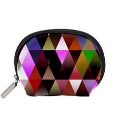 Triangles Abstract Triangle Background Pattern Accessory Pouches (Small)