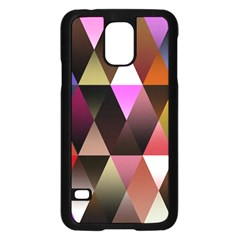 Triangles Abstract Triangle Background Pattern Samsung Galaxy S5 Case (Black)
