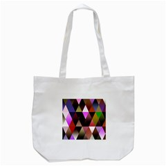 Triangles Abstract Triangle Background Pattern Tote Bag (White)