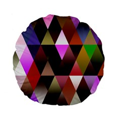 Triangles Abstract Triangle Background Pattern Standard 15  Premium Flano Round Cushions