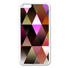 Triangles Abstract Triangle Background Pattern Apple iPhone 6 Plus/6S Plus Enamel White Case