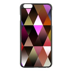 Triangles Abstract Triangle Background Pattern Apple iPhone 6 Plus/6S Plus Black Enamel Case