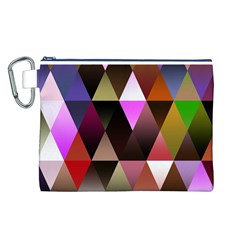 Triangles Abstract Triangle Background Pattern Canvas Cosmetic Bag (L)